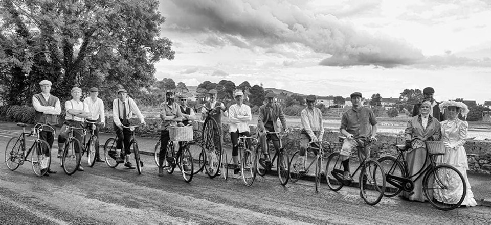 DCC club members re-enacting the first ever cycle race in Ireland